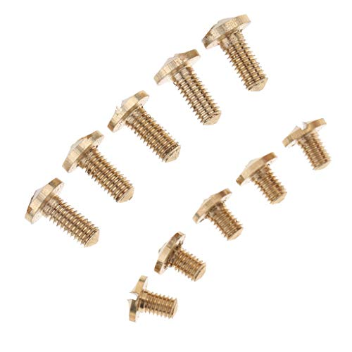 Milageto Tornillos para piezas de reparación para Sax Contralto 10 piezas para accesorios para instrumentos de viento