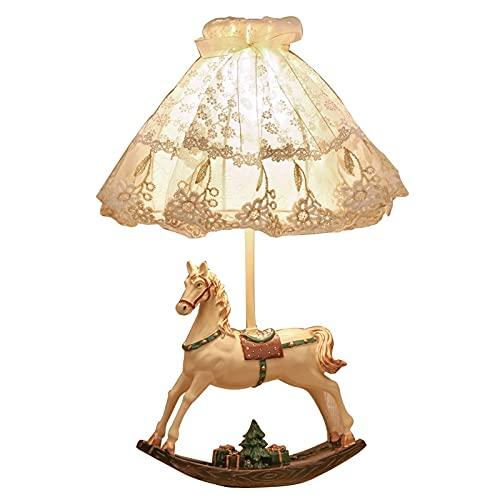 Zenghh Dream Carriage Lámpara de Noche Niñas Niñas Princesa Mesa Escritorio Luz Hada Cuento Caballo Modelo Noche Armario Luz Europa Encaje Linterna niño Bebé Dormitorio Lactanci