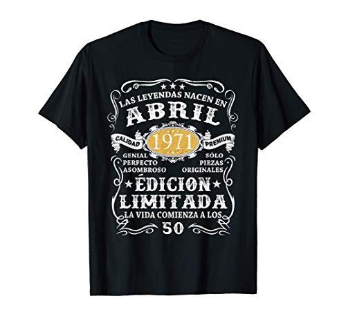 Leyendas Nacido En Abril 1971 Hombre 50 Años Cumpleaños Camiseta