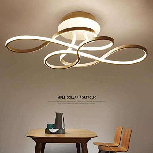 LWQZH Plafón De Diseño LED Regulable 3000K-6500K con Control Remoto Color De Luz/Brillo Ajustable Pantalla Acrílica Lámpara De Sala De Estar Lámpara De Comedor Lámpara De Dormitorio Lámpara De Techo