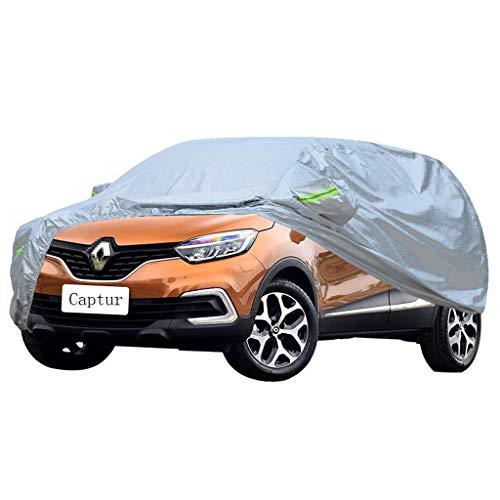 Zfggd Volle Autoplanen |Komplett wasserdicht und atmungsaktivIndoor Outdoor Allwetterschutz |Schneedecke für Renault Captur SUV Auto |Silber, klein