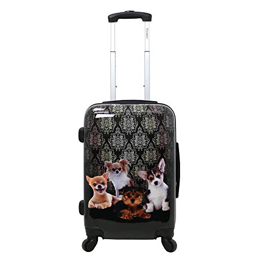 Chariot Doggies 20-Inch Lightweight Spinner Carry-On Upright Suitcase