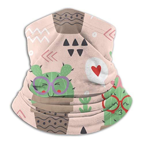 Uosliks Nahtloses Muster der Kopfbedeckung mit lustigem Kaktus 10