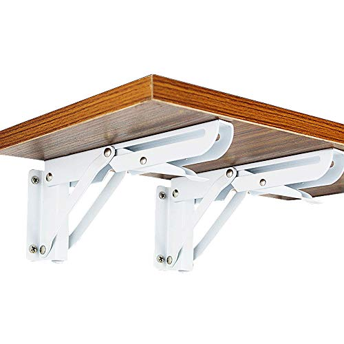 2 soportes plegables, soporte de mesa plegable montado en la pared, soporte...