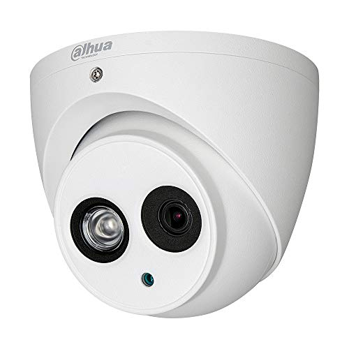 Dahua Technology HAC-HDW1200EM-0280B - Cámara Domo HDCVI 4 en 1 (2M, 1080P, IR 50m, 2.8mm, IP67) Color Blanco