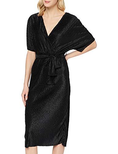 YAS Damen YASOTOLINDA SS MIDI Dress Kleid, Black, M