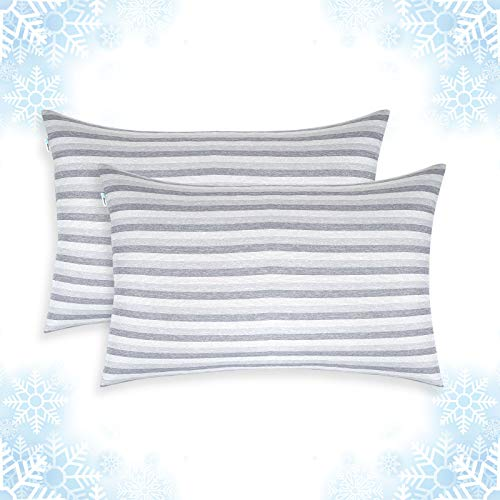 Cooling Pillow Cases, King Size Set of 2 with Double Sided Cold, Moisture Wicking Pillowcase Covers with Hidden Zipper Japanese Cold Tech Pillow Case Protectors for Hot Sleepers and Night Sweats