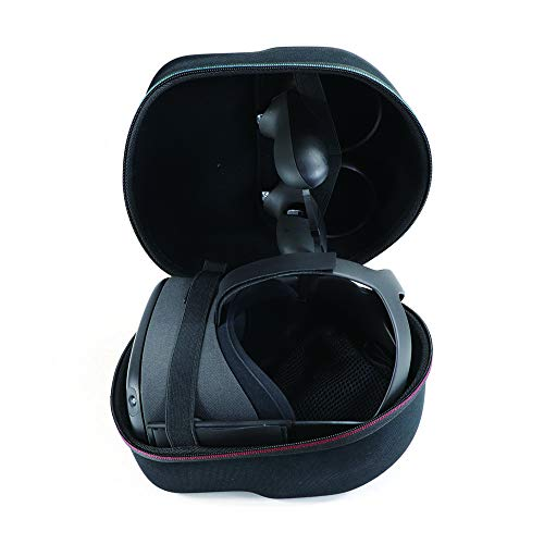 Travel Case for Oculus Quest All-in-one VR Gaming Headset Hard Carrying Case Shoulder Bag Protective Storage Box (Black)