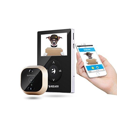 Mirilla digital wifi IP con grabación de vídeo y visión remota por móvil o tablet