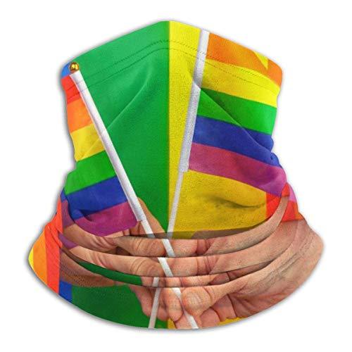 AEMAPE Hands Waves Gay Pride Rainbow Flag Hombres Polaina de cuello a prueba de viento Calentador de cuello Polaina para clima frío Bufanda de cara para actividades de invierno al aire libre