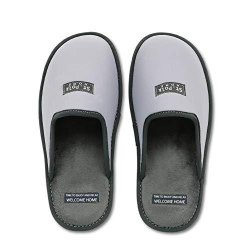 Zapatillas de Estar por casa Hombre/Mujer. Slippers para Verano e Invierno/Pantuflas cómodas, Resistentes, Transpirables y de Interior Suave. Suela de Goma Antideslizante (43 EU, Gris)