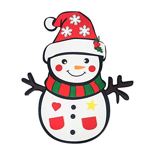 Feelava Muñeco de Nieve de Fieltro navideño,22,8 x 12,2 Pulgadas,24 Piezas, Adornos Desmontables, decoración navideña para Colgar en la Pared para el hogar, Juegos de Fiesta