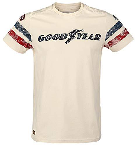Goodyear Fashion Herren Grand Bend T-Shirt, Vintage Sand, XXL