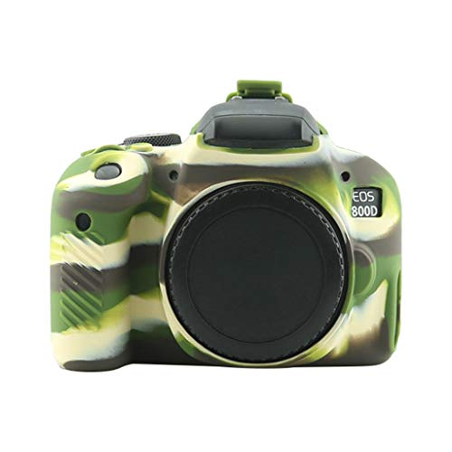 HSKB Beschermhoes voor Canon 800d Camera/Bumper Case/Beschermhoes/Shell/Anti-lip Silicone, Camouflage