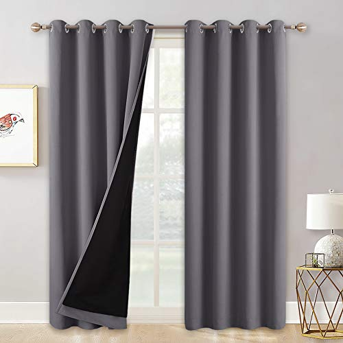 (50% OFF Coupon) Extra Long Curtains – 100% Blackout Curtains 2 Panels $20.98