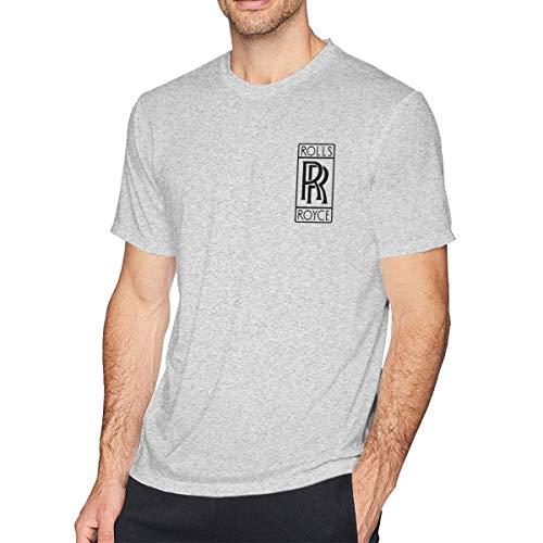 Mens General Motors Rolls Royce Logo Gym Tees Half Sleeve Round Neck Shirt Gray