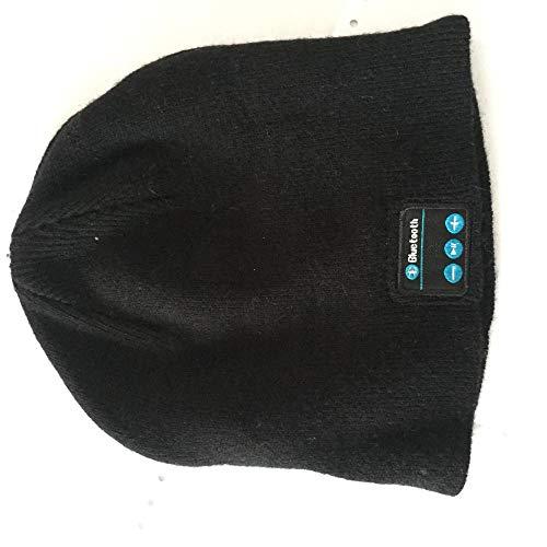 Aibccr Otoño e Invierno Tendencia Sombrero de Bluetooth de Punto de Cachemira Plana Sombreros de Hombres y Mujeres Adultos