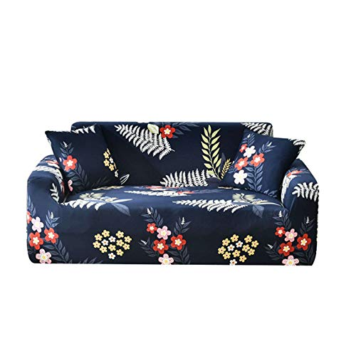 HALOUK Stretch Print Sofa Slipcover,Sofa Cover for 3 Cushion Couch Non Slip Soft Couch Washable Furniture Protector Sofa Cover Couch Cover with Elastic Bottom for Living Room-F-4 Seater 235-300cm
