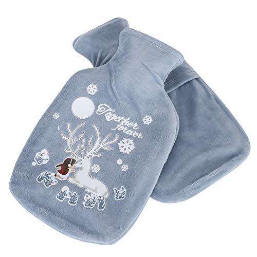 Patrón de dibujos animados 2 piezas Bolsas calientes llenas de agua El mejor regalo para el día de Navidad