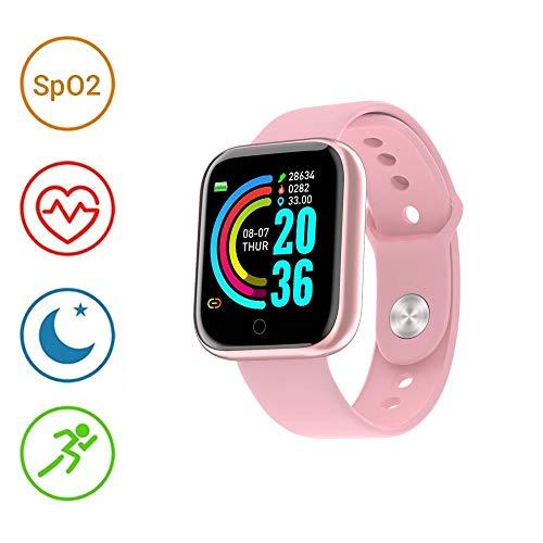 LCJDD Reloj Inteligente Pantalla táctil, IP68, Impermeable, 1.3 Pulgadas, rastreador Ejercicios Monitor frecuencia cardíaca, rastreador sueño, cronómetro, Reloj Bluetooth Compatible iOS, Android