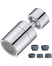 FEILINGDI蛇口シャワー 2段階切替噴霧器泡沫器蛇口 360度回転 純銅ボール ヘッド 80度変更方向 台所節水蛇口