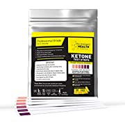 Ketone Test Strips - Keto Urine Test Sticks - 125 Strips Pack - Ketosis Measuring Strips Kit - Suitable for Ketogenic, Paleo, Low Carbs, Diabetics & Atkins - Testing Strips by The Intelligent Health