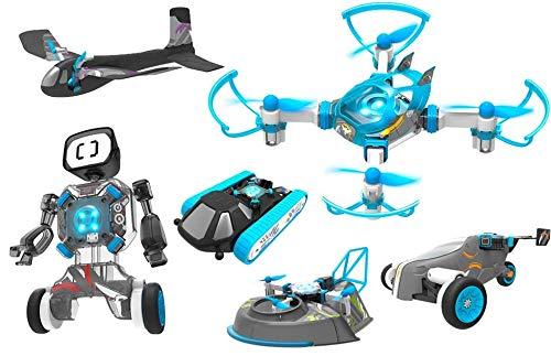 RC TECNIC 6 Giocattoli in 1 | Costruisci 6 Veicoli Intelligenti | Flight Lab Evolution | Crea Il Tuo Drone, Robot, Triciclo, Aereo Hovercraft e Tank