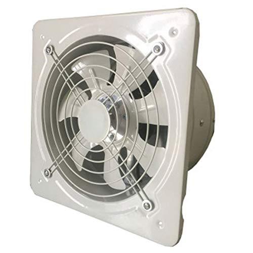 Extractor de ventilación industrial, extractor de ventilación industrial Extractor axial de metal Ventilador de aire comercial Ventilador de bajo ruido Funcionamiento estable - Blanco - 4 pulgadas