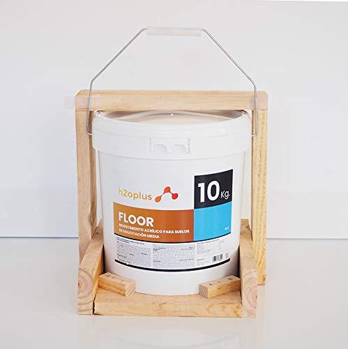 Pintura para Suelos Exterior e Interior Floor Azul 10Kg · Pintura para Suelos Garaje, Hormigon, Asfalto o Baldosa · Producto Natural 100% en Base Agua, SIN Olor a Disolventes Químicos