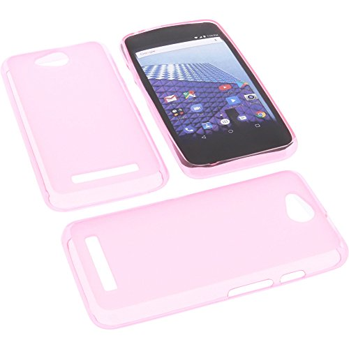 foto-kontor Tasche für Archos Access 45 4G Gummi TPU Schutz Handytasche pink