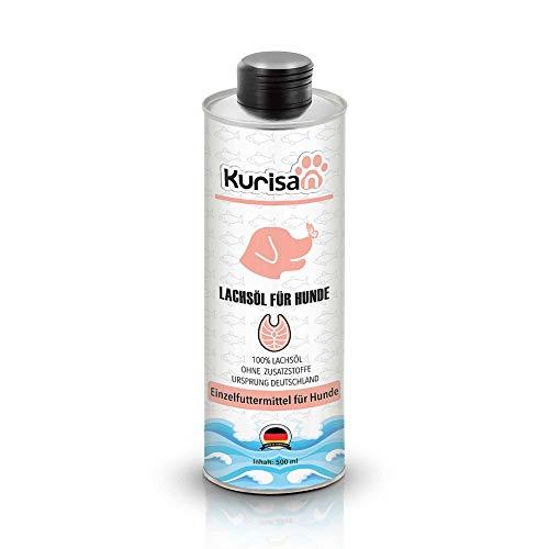 Kurisan Lachsöl für Hunde | in Lebensmittelqualität | kaltgepresst | 500 ml | Made in Germany