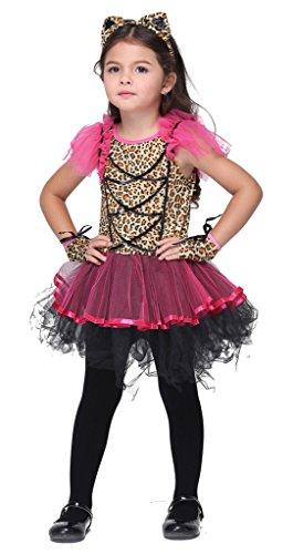Bigood Costumes Déguisement Cospaly Chat Léapard pour Enfant Fille pour Halloween S