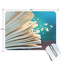 マウスパッド かわいい 蝶になる本 飛べる 夢 ロマンティック 素直 高級 ノート パソコン マウス パッド 柔らかい ゲーミング よく 滑る 便利 静音 携帯 手首 楽