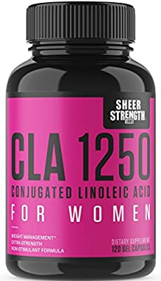 Extra Strength CLA for Women - High Potency Weight Loss Supplement - Conjugated Lineolic Acid from Safflower Oil - Non-GMO + Stimulant-Free - 120 Softgels - Sheer Strength Labs