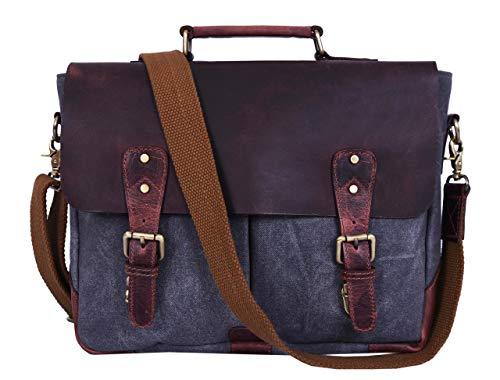 Messenger Bag for Men and Women | Shoulder Bag with Multiple Compartments Zippered Pockets School Bag (Caramel)