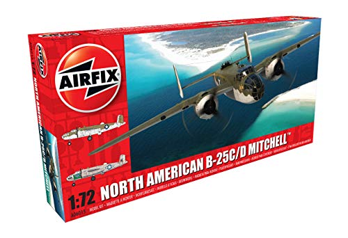 Airfix A06015 1/72 Modellbausatz North American B25C/D Mitchell, grau
