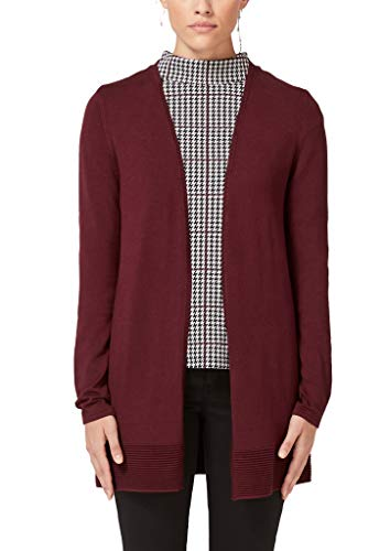 s.Oliver BLACK LABEL Damen 01.899.64.5503 Strickjacke, Rot (Wonder Bordeaux 3976), (Herstellergröße: 38)