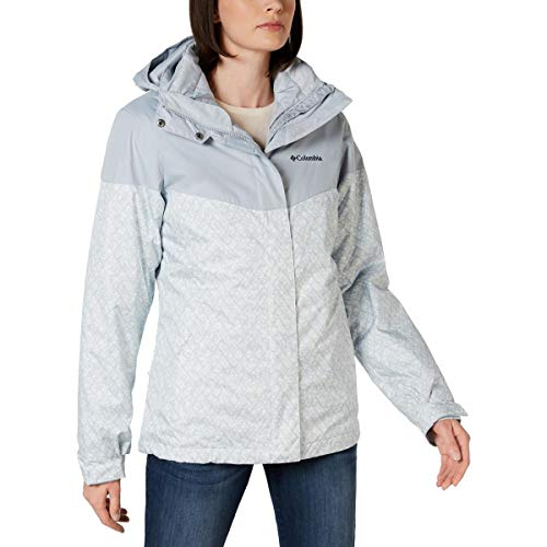 Columbia Sportswear Womens Loon Ledge Printed Thermal Coil Jacket Blue M