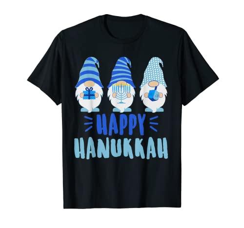 Tu Happy Hanukkah 2020 Gnome Menorah Dreidel Costume T-Shirt