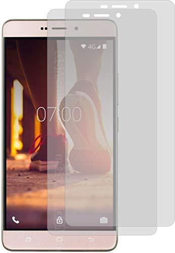 4ProTec I 2X Schutzfolie KLAR passexakt für Medion Life X5520 Bildschirmschutzfolie Displayschutzfolie Schutzhülle Bildschirmschutz Bildschirmfolie Folie