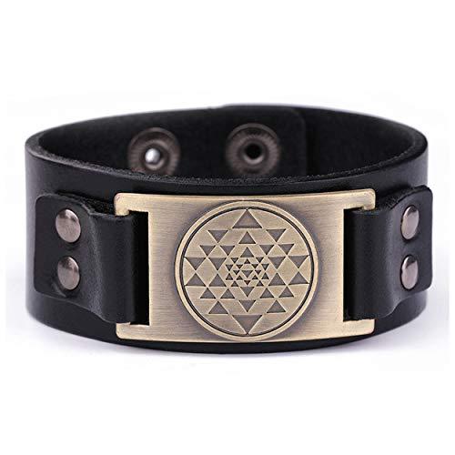 Mandala-Armband mit 3. Auge, Hindu-Göttin, Yoga, Sri Yantra-Chakra, verstellbar