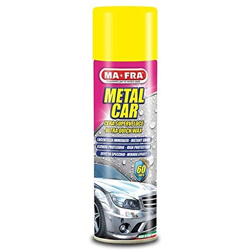 AV RICAMBI cera auto METAL CAR MA-FRA superveloce facile da utilizzare lucida effetto specchio spray 500ML