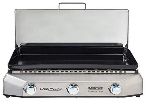 CAMPINGAZ PLANCHA GAZ A Poser Master 3 LX - 3600 cm² - Plaque Fonte émaillée - Couvercle INOX avec charnières - Instastart - Garantie 10 Ans