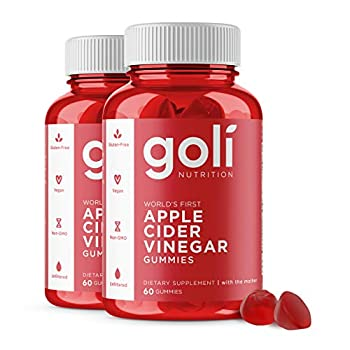 Apple Cider Vinegar Gummy Vitamins by Goli Nutrition - 2 Pack -  120 Count Organic Vegan Gluten-Free Non-GMO with The Mother  Vitamin B9 B12 Beetroot Pomegranate