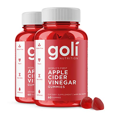 Apple Cider Vinegar Gummy Vitamins by Goli Nutrition - 2 Pack - (120 Count, Organic, Vegan, Gluten-Free, Non-GMO, with'The Mother', Vitamin B9, B12, Beetroot, Pomegranate)