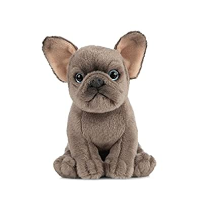 Living Nature AN437 Pets French Bulldog Puppy Plush Toy, 16cm by Keycraft