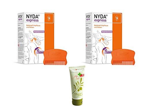NYDA express Doppelpack Sparset - 2x Nyda express Läusemittel 2x50 ml Inkl. GRATIS Rats-Apotheke Pflegecreme