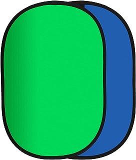 Rollei opvouwbare achtergrond / groen scherm compact. 2 gekleurde achtergrond in groen en blauw voor optimale vrijstelling...