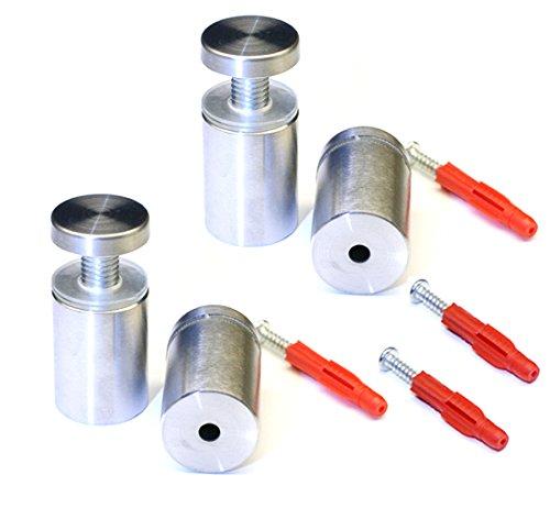 4 separadores de 25 x 40 mm con rosca (acero inoxidable V2A   Placas de fijación   Soporte de pared
