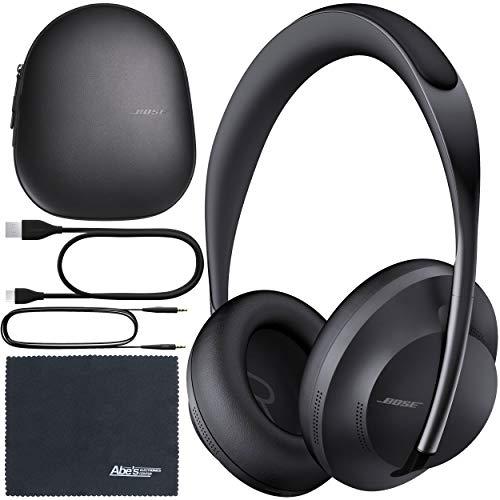 Bose Headphones 700 Noise-Canceling Bluetooth Headphones (Triple Black) (794297-0100) + AOM Bundle - International Version (1 Year AOM Warranty)